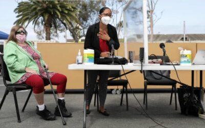 Column One: In Redondo Beach, it's homeless court alfresco — with love