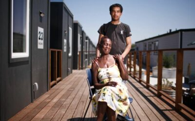 Unhoused San Jose families find new home in community of recycled shipping containers
