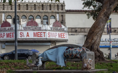 LA clears another park encampment in battle over worsening housing crisis